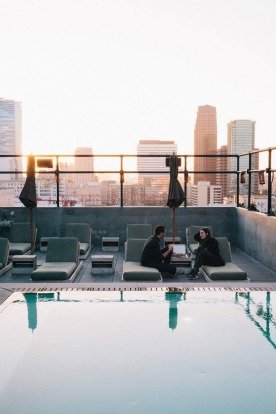 The pool on the rooftop of the Ace Hotel.