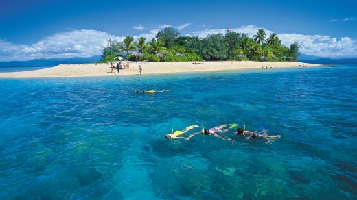 Snorkelling at the Low Isles.
