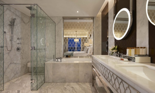 One of the luxurious bathrooms.