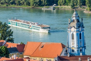 An Amadeus Silver ship on the Danube in Austria.