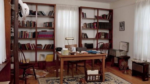 A recreation of Martin Luther King Jr's study at the Dexter Parsonage Museum, Montgomery, Alabama.