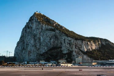 Gibraltar. Not for those with faint hearts. Landing at 'The Rock' requires a lot of skill (and adverse weather ...