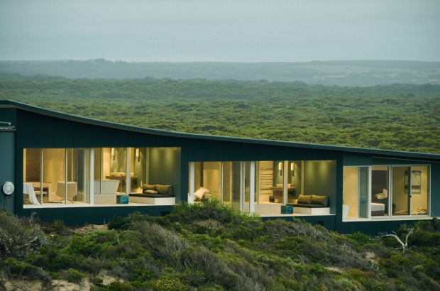 The spectacular setting of Southern Ocean Lodge.