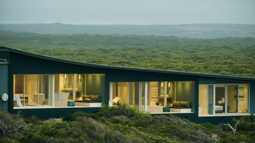 The spectacular setting of Southern Ocean Lodge, Kangaroo Island.