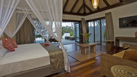Nautilus Cook Island beachfront guest room.