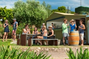 Laid back: Enjoy a drop gazing at the river at Caudo Vineyard.