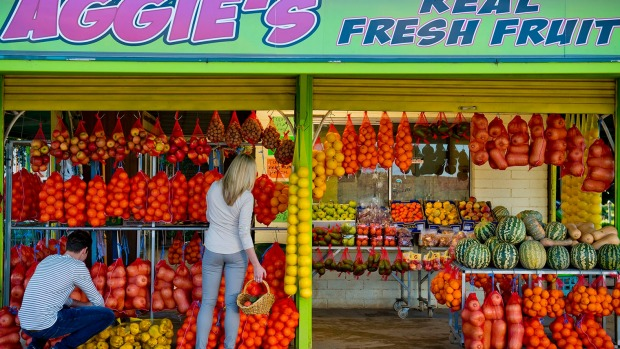 Vibrant: Aggie's Fruit Stall stocks the produce of the Riverland.