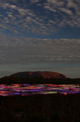 Field of Light, Uluru.