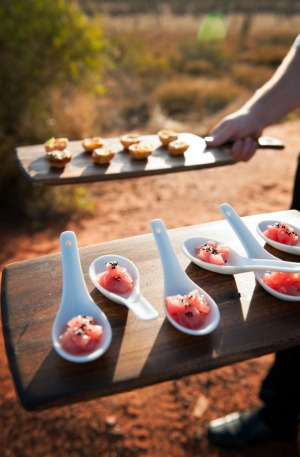 The Sounds of Silence experience starts with sunset drinks in the desert overlooking Uluru and Kata Tjuta, and includes ...
