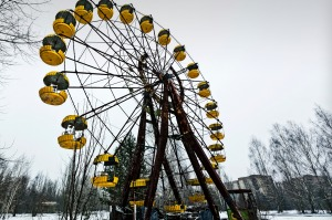 The abandoned ferris wheel inside the Chernobyl exclusion zone.