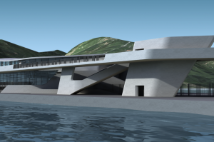 An artist's impression of the Salerno cruise ship terminal.