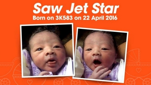 The airline was fully on board with celebrating the baby's early arrival, taking to Facebook to share the news.