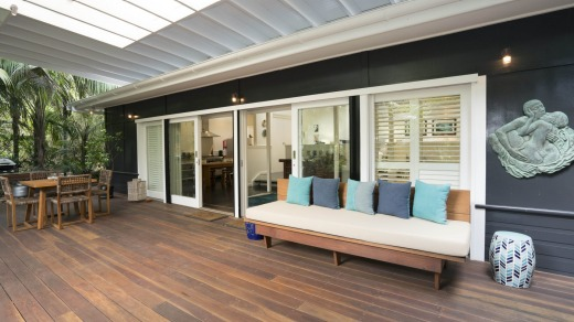 Deck at Blue Peter beach house Lord Howe Island.