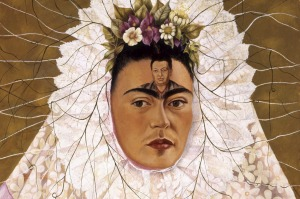 Frida Kahlo's Diego on my mind (self-portrait as Tehuana) 1943.