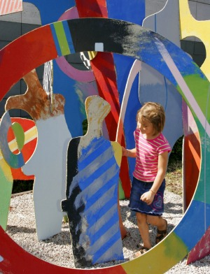 The children's sculpture garden.