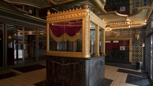 A ticket box inside the grand Alabama Theatre.