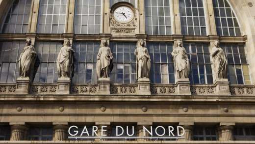 Exterior of Gare du Nord railway station, which serves as the city's Eurostar terminal.  Photo: Getty Images
