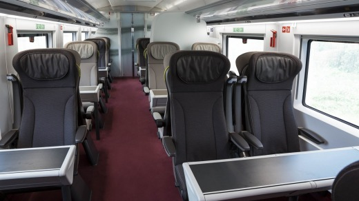 One of the carriages aboard Eurostar's new e320 train.