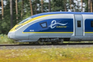 Fast times: One of Eurostar's new, hi-tech e320 trains.