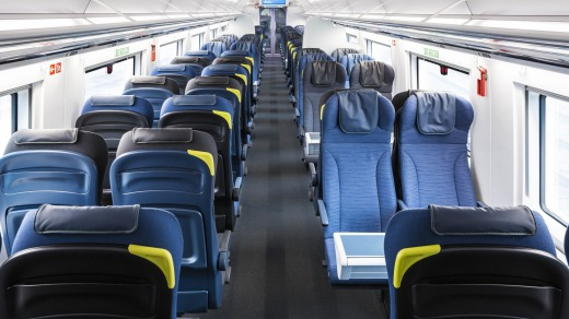 Travel in comfort: On board the Eurostar.