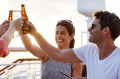 Toasting the sunset: On board Princess Cruises.