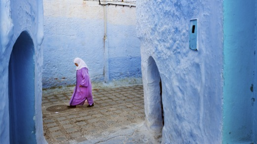 The blue streets of the Medina, Chefchaouen, Morocco.