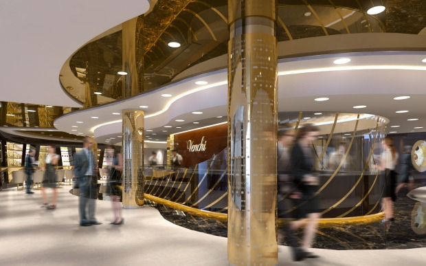 The chocolaterie piazzetta on MSC Seaside.