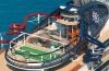 The interactive waterpark on MSC Seaside.
