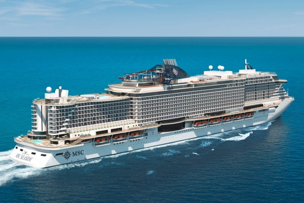 MSC Seaside: MSC's new 'beach condo' style cruise ship.