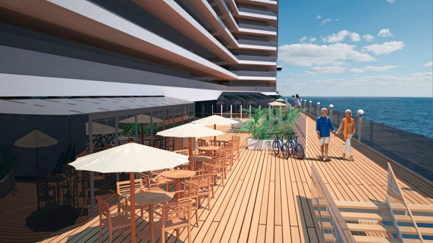 MSC Seaside Open air promenade