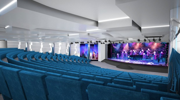 MSC Seaside will feature a theatre.