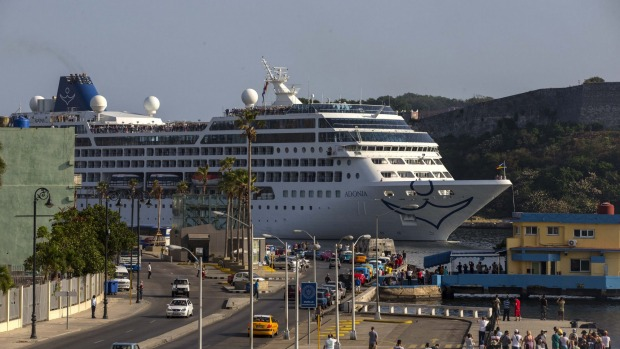 Cuba Cruises First US Cruise Ship In Years Arrives In Havana - Us flagged cruise ships