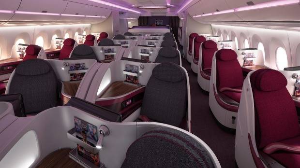 Qatar Airways business class on the Airbus A350.