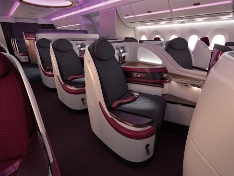 Image result for qatar a350 business class