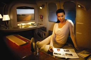 One airline is now giving its first class passengers moisturising pyjamas on board.