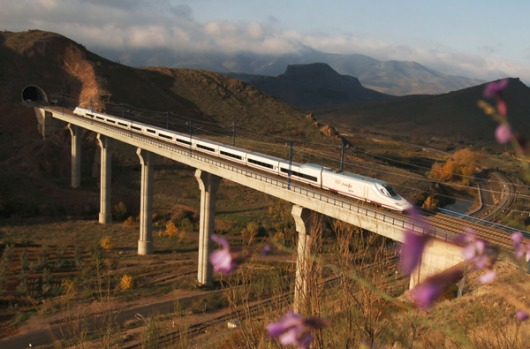 Scenic ... an AVE train in Spain.