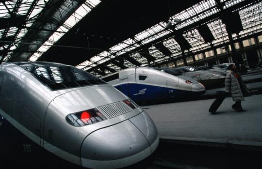 Start your engines ... TGV trains at Gare de Lyon Railway Station in France.