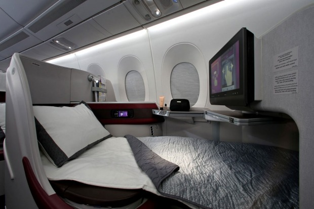 Qatar Business Class on the new A350.