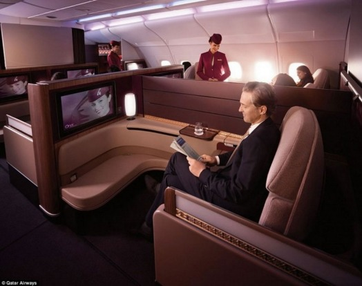 The First Class seat on Qatar's A380.