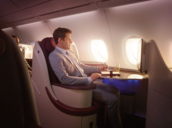 Business Class on Qatar's A380.