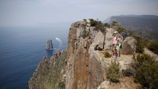 The dramatic cliff face at Cape Hauy.