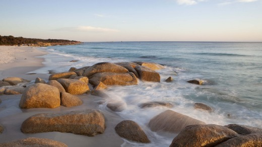 Rocks on the Bay of Fires Beach.
