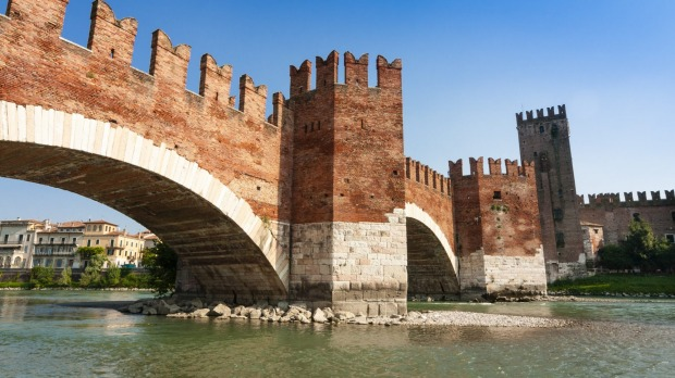 Ponte Scaligero over the Adige river.