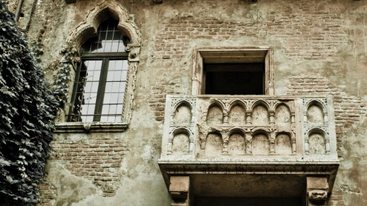 Romeo and Juliet balcony in Verona.