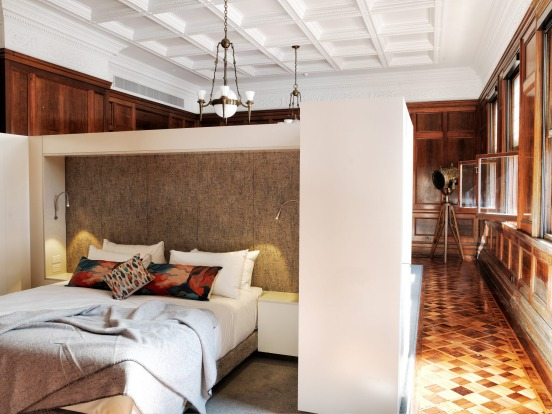 The Old Clare's rooms preserve old features and introduce new ones.