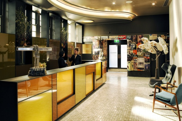 The Old Clare's lobby is an intimate space.
