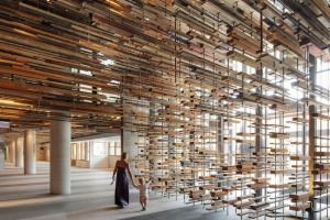 Reclaimed timber was used to dramatic effect at Hotel Hotel