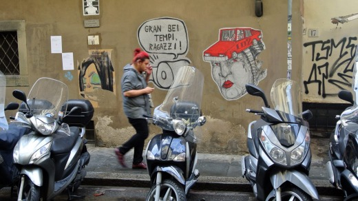 On the streets of Florence.