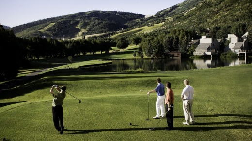 Teeing off at the Park City Golf Club. Park City has 15 championship courses within 30 minutes of town.