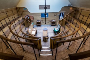 E5DYAY A 19th Century operating theatre with student viewing gallery. The Old Operating Theatre Museum and Herb Garret ...